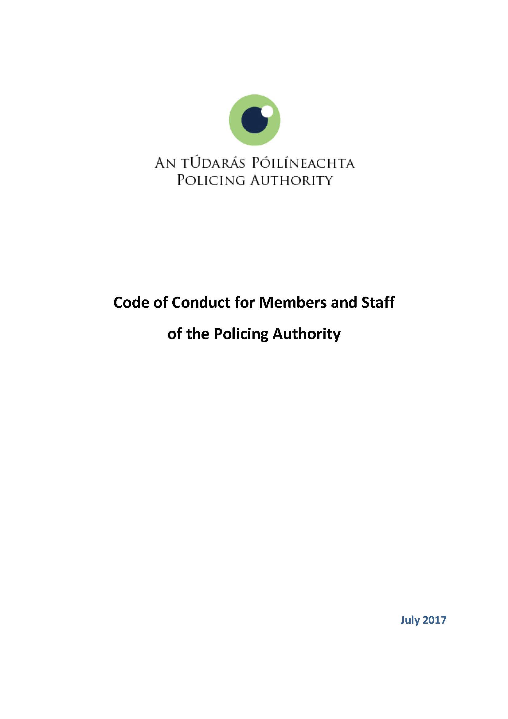 Policing Authority Code of Conduct
